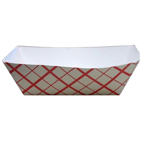 Southern Champion Tray 0413 #100 Southland Red Check Paperboard Food Tray / Boat / Bowl, 1 lb. Capacity (Case of -