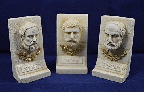 Herodotus Xenophon Thucydides sculpture ancient Greek historians set Estia Creations