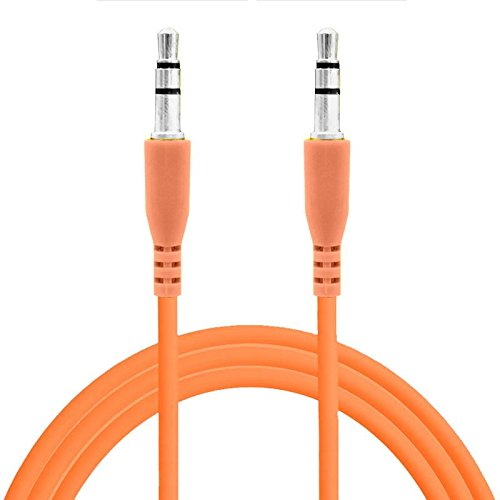 Stereo 8120 (Universal Orange Color 3.5mm Auxiliary Stereo Mini Port Aux Audio Extension Cable For BlackBerry Pearl 8100 8110 8120 8130)