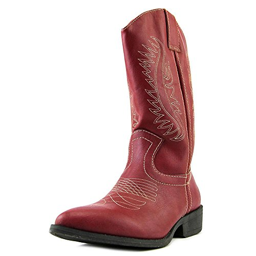 Rampage Womens Wamblee Cowboy Western Mid Shaft Boot 7.5 Red (Red Women Boots)