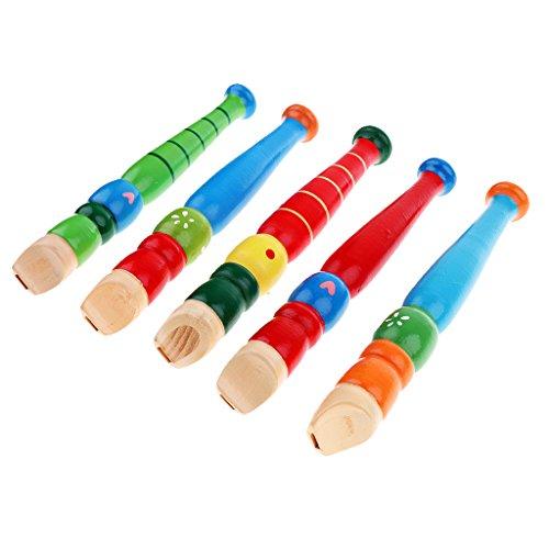 Homyl Trompette En Bois Buglet Hooter Bugle Jouet éducatif Cadeau Pour Enfants