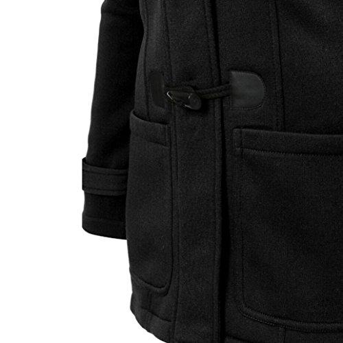 Outwear Manteau Laine Chaude Coupe vent D'hiver Mince Longue Noir Femme Familizo Veste EwvFf7xq
