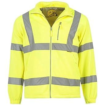 Dunlop Herren Hi Viz Fleece Jacke Arbeitsjacke Warnschutzjacke Arbeitskleidung