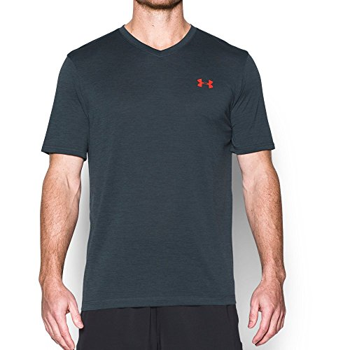 under-armour-mens-tech-v-neck-t-shirt-stealth-gray-phoenix-fire-large