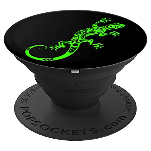 Funky Green Gecko Lizard - PopSockets Grip and Stand for Phones and Tablets