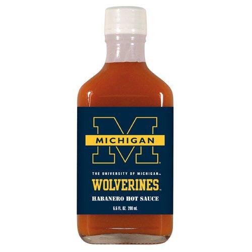 6.6 Ounce Flask (Michigan Wolverines Hot Sauce 6.6oz Habenero Flask)