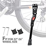 iHomeGarden Bike Kickstand Bike Stand for Mountain Bike and Road Bike - Bicycle Accessories for City Bike Kids Bike Sports Bike Adult Bike - Adjustable Length Fits Most - Black