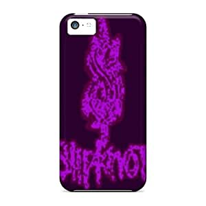 Durable Defender Case For Iphone 5c Tpu Cover(slipknot Logo Pink)