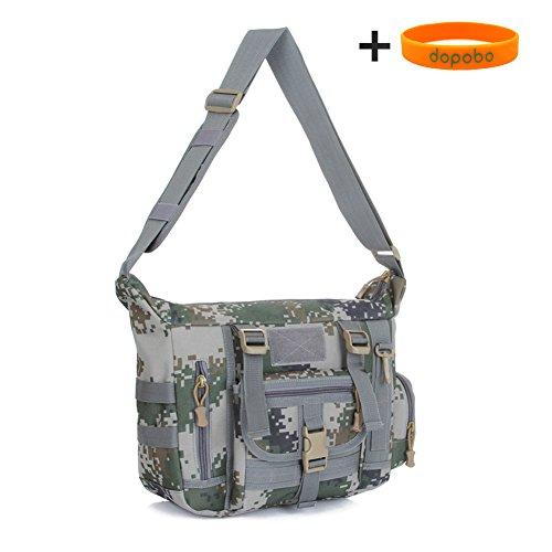 Dopobo - Bolso al hombro para hombre caqui 24CM x 32CM x 11CM (Height*Width*Thickness) 07 Digital Camouflage