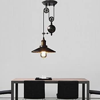 amazon com metal creative pulley design black iron painted