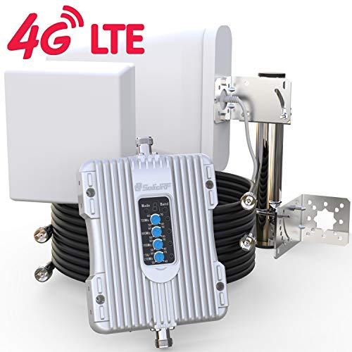 SolidRF Cell Phone Signal Booster BuildingForce 4G-X For Home and Office Full Band All carriers Supports 40000 Ft2