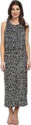 Vince Camuto Women's Tropical Etching Maxi Dress w/ Crop Over Rich Black Dress SM