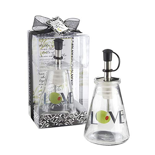 30 'Olive You!' Glass LOVE Oil Bottles in Signature Tuscan Boxes