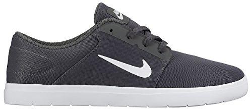 Nike SB Portmore Ultralight, Scarpe da Skateboard Uomo Grigio / Bianco (Dark Grey/White)