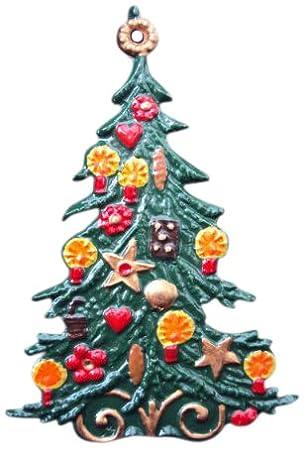 Amazon De Weihnachtsbaum Klassisch Beidseitig Handbemalt Aus Zinn