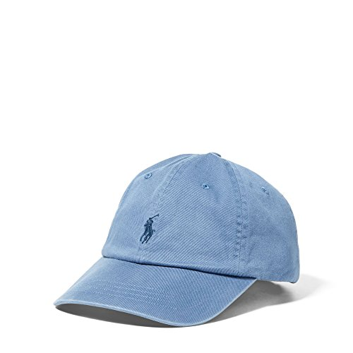 Polo Ralph Lauren Mens Classic Chino Sports Cap (Carson Blue)