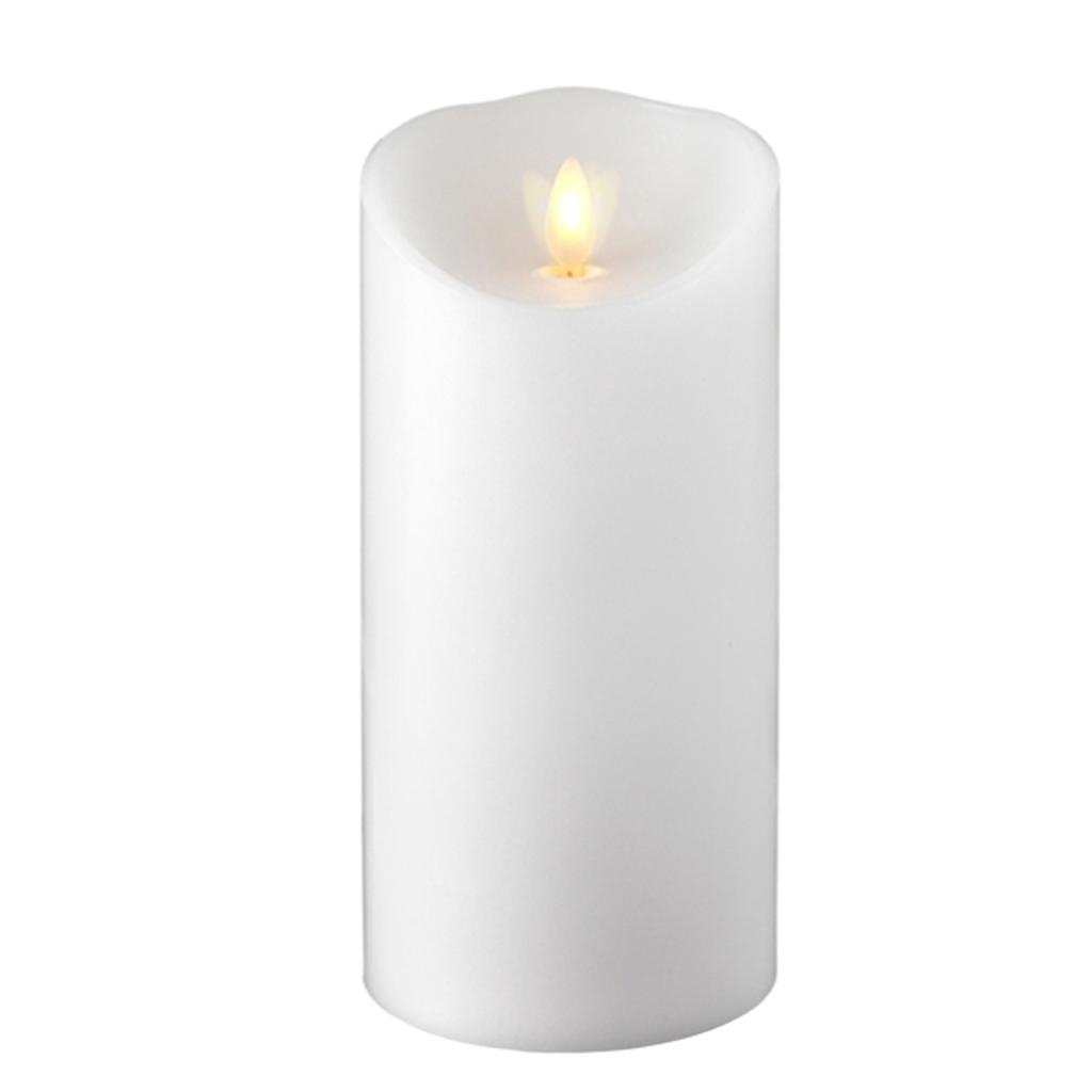 Liown Flameless Candle: Unscented, Moving Flame Candle with Timer (7'' White)