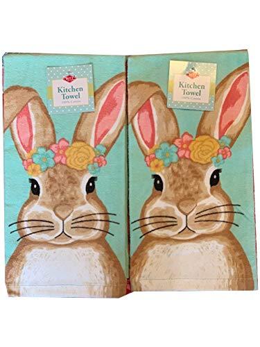 (Ritz Buns & Roses Easter Bunny Kitchen Dish Towel 2 Pk. Set)