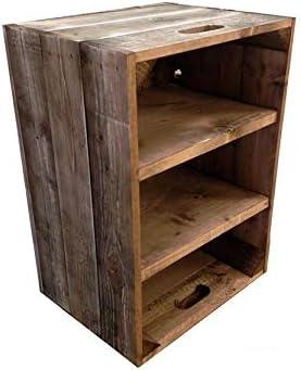 Handmade Wooden Bedside Bathroom Storage Cabinet Vintage Stain Amazon Co Uk Diy Tools