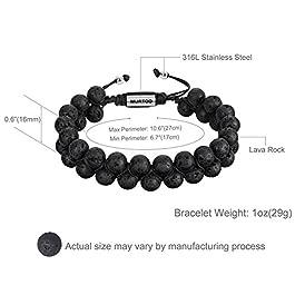 Depot Tresor Womens Bracelet Beads, Lava Rock Bracelet For Women Lava Stone Bracelet For Girls