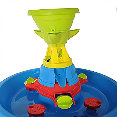 COLOR TREE Kids Sand and Water Table Play Fun Waterpark Play Table: Toys & Games