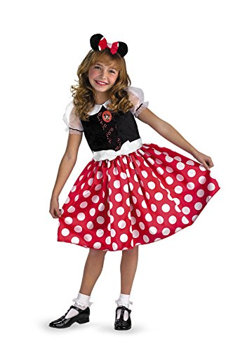 Disney Mickey Mouse Minnie Mouse Classic Girls Costume, Small/4-6x (Minnie Mouse Costumes Girl)