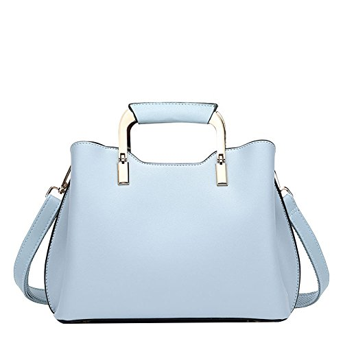 Shoulder Handbag Backpack Bag Ladies Leather Bag Messenger FLHT Strap Leather Wide Blue ntAqa4xY