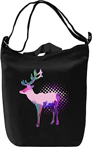 Colourful Deer Borsa Giornaliera Canvas Canvas Day Bag| 100% Premium Cotton Canvas| DTG Printing|
