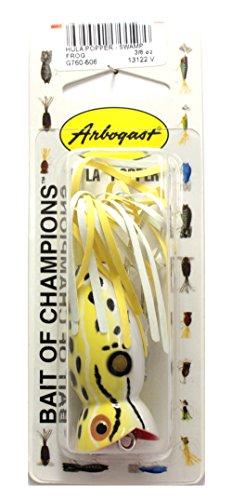 - Arbogast Hula Popper Fishing Lure-2 in-Swamp Frog - Yellow/White Skirt