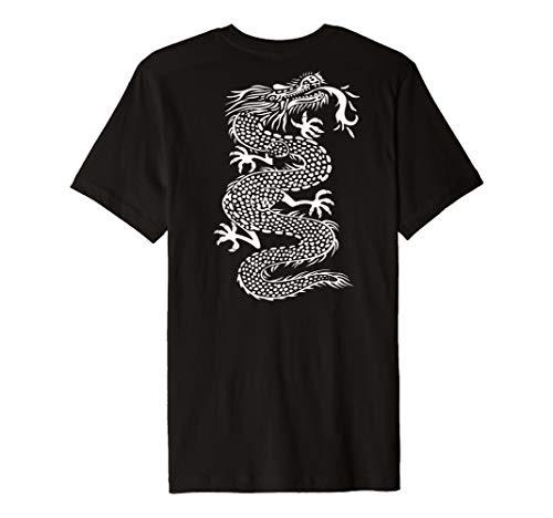 - ROCKSTAR White Kung Fu Dragon - Martial Arts Tattoo on Back Premium T-Shirt