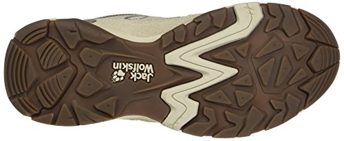 Jack Wolfskin Mtn Attack 5 W, Zapatos de Low Rise Senderismo para Mujer Beige (Flashing Green)
