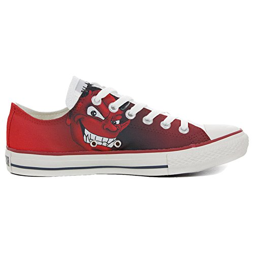 Low All Schuhe Star Customized Schuhe Rossonero Handwerk Slim Diavolo personalisierte Converse q6wPEq