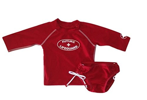 Babi-kini Girls Future Lifeguard Rashguard Swimsuit Set (M (1-2 Years))