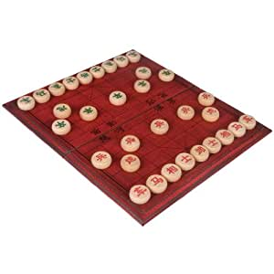 Chinese Chess Xiangqi Set in Leather Case