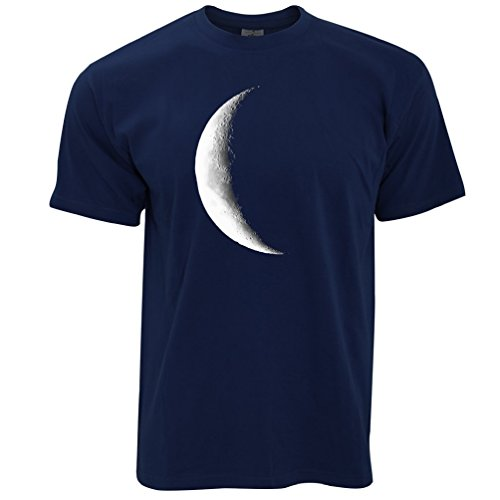Half Moon Galaxy Space Waning Crescent Phase Lunar Stars Astronomy Gift Mens T-Shirt