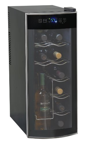 Avanti 12 Bottle Thermoelectric Counter Top Wine Cooler - Model EWC1201 (Avanti Wine Coolers)