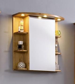 Spiegelschrank kiefer  SAM® Stilvoller Spiegelschrank Valencia in honig, Badspiegel aus ...