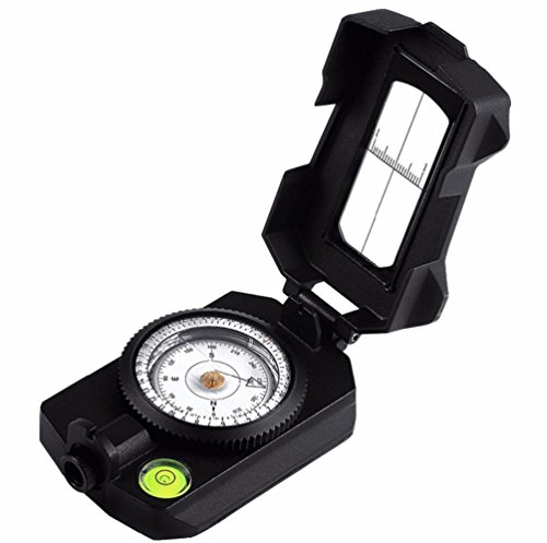 Hycy [NEW] Professional Waterproof Compass Survival Compass, Military (Professional Brass Pencil Compass)