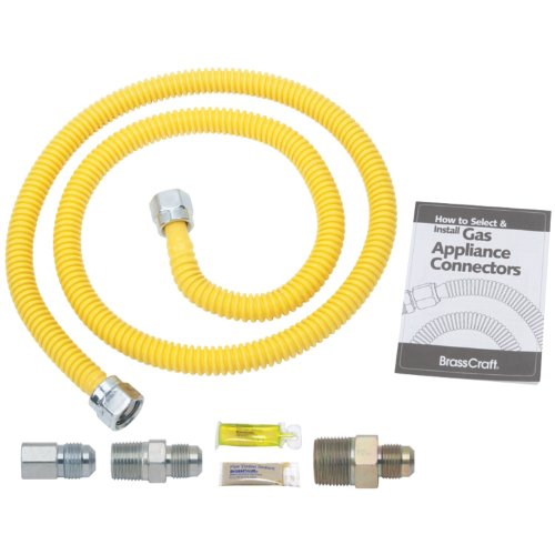 (Brasscraft rasscraft PSB1091 Gas Dryer Installation Kit, yellow)