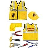 Construction Worker Costume - iPlay, iLearn Construction Worker Role Play Costume Set
