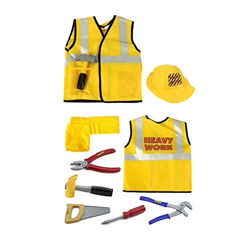 [iPlay, iLearn Construction Worker Role Play Costume Set (3-6 Years)] (Tool Belt Costume)