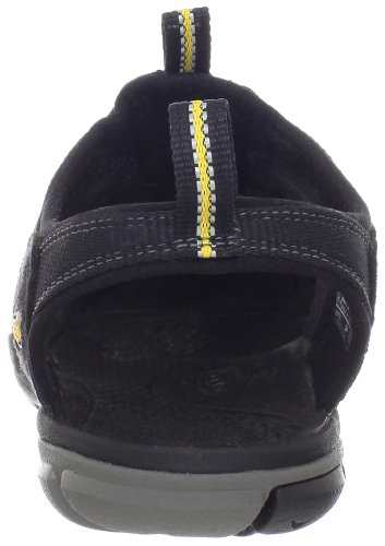 Keen CLEARWATER CNX W-GARGOYLE/NORSE BLUE - Sandalias de material sintético mujer Negro (Black/Yellow)