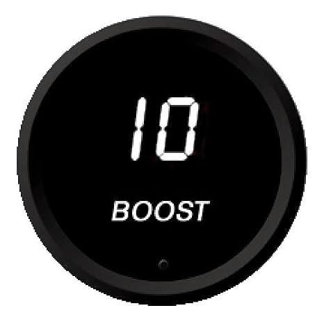 Red Intellitronix LED Digital Boost Gauge in Black Bezel