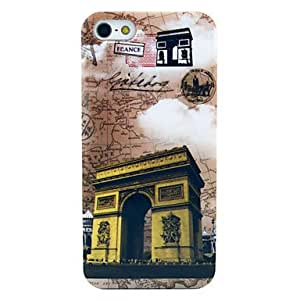Mini - The Building of Triumphal Arch with Map Pattern Hard Plastic Case for iPhone 5/ 5S