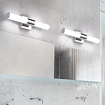 LED Vanity Lights,JoosenHouse Modern Stainless Steel Bathroom Wall Sconce Light Fixtures Daylight Bath Makeup Mirror Lighting