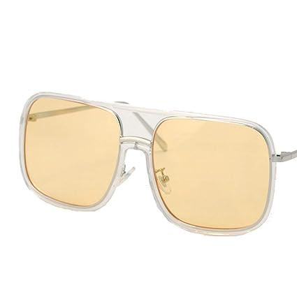 Tchin Gafas de Sol Cuadradas Retro Personalidad de la Moda ...