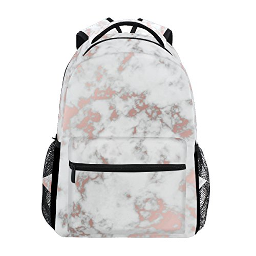 Casual School Backpack Amazing Marble Artwork Pattern Lightweight Travel Daypack College Shoulder Bag for Women Girls Teenage