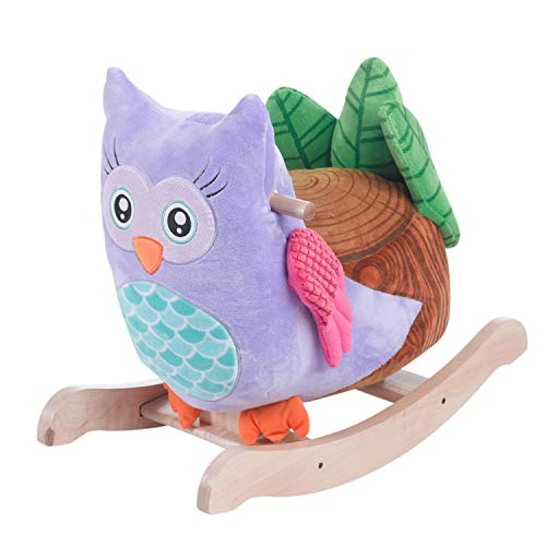 Baby Rocker, Educational, Fun Toys All Wrapped Up in One with Owlita The Owl Engraved with Your Child's Name in Choice of Colors