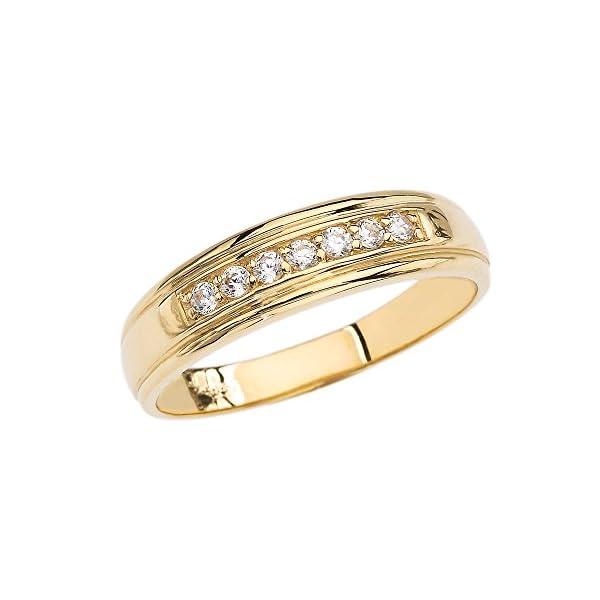 10k-Yellow-Gold-Diamond-Mens-Wedding-Band