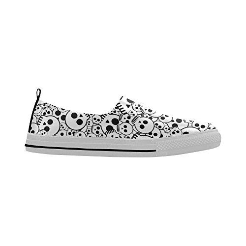 D-etasjers Kul Hodeskallen Print Slip-on Microfiber Menns Sko Sneaker